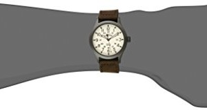 "Timex Men's T49963 ""Expedition Scout"" Watch with Brown Leather Band"