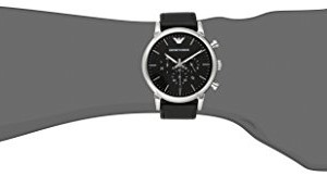 Emporio Armani Men's AR1828 Classic Stainless Steel Watch with Black Leather Band