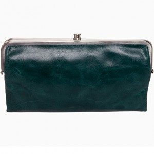 Hobo Womens Genuine Leather Vintage Lauren Clutch Wallet (Hunter)