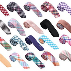 Skinny Tie Madness Men's Bundle of 20 Skinny Ties