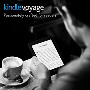 """Kindle Voyage, 6"""" High-Resolution Display (300 ppi) with Adaptive Built-in Light, PagePress Sensors, Wi-Fi - Includes Special Offers"""