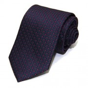 Yves Saint Laurent YSL Men's Neck Tie Silk Dotted Blue