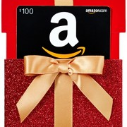 Amazon.com $100 Gift Card in a Reveal Card (Holiday Gift Box Reveal Card Design)